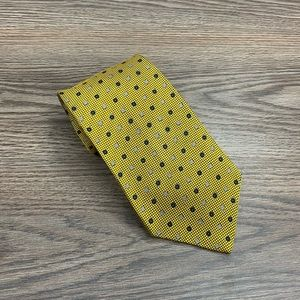 Mark Pendleton Gold w/ Navy & White Check Tie
